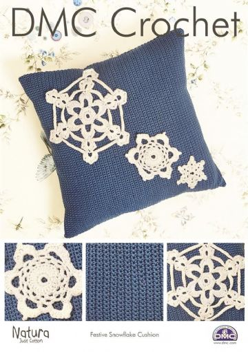 DMC Crochet Pattern 'FESTIVE SNOWFLAKE CUSHION'